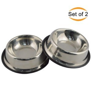 MLife Set of 2 Stainless Steel Bowls