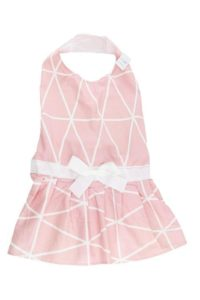 Midlee Pink Geometric Big Dog Dress by
