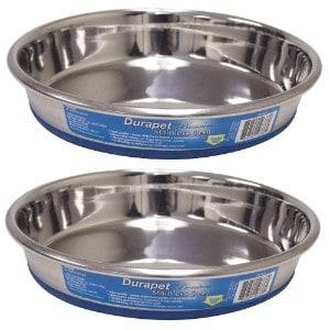 OURPQ Durapet Premium Stainless Steel Dish