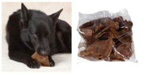 PIG EARS DOG TREAT Bulk Packs 100% All Natural Smoked Pork Savory Tasty Chews (2 Pig Ears)