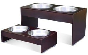 PetFusion Premium Bamboo Elevated Dog Feeder