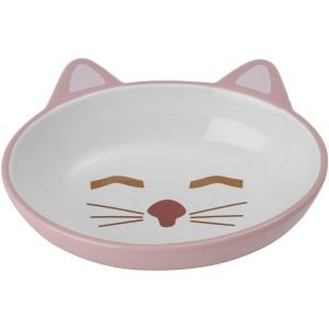 Petrageous Designs Here Kitty Oval Pet Bowl