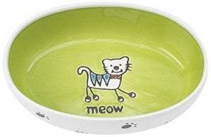 Petrageous Silly Kitty Oval Cat Bowl