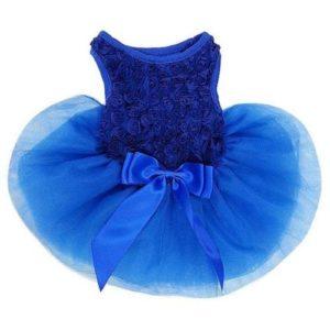 Royal Blue Rosettes PETS Tutu Party Dress