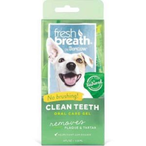 Tropiclean Fresh Breath Plaque Remover Clean Teeth Gel