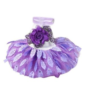 WXBUY Adarl Cute Bowknot Lace Pet Dress Princess Dog Tutu Dress