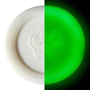 West Paw Zisc Disc Frisbee Glow-in-the-Dark
