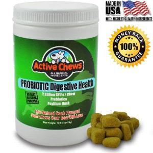Active Chews Premium Probiotics for Dogs with Digestive Enzymes