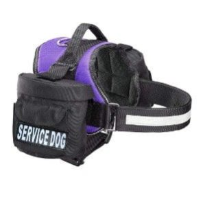 Doggie Stylz Service Dog Harness with Removable Saddle Bag Backpack