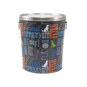 paw prints tin container