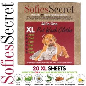 SofiesSecret Pet Wipes for Dogs and Cats