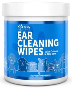 Zesty Paws Ear Cleaning Wipes for Dogs