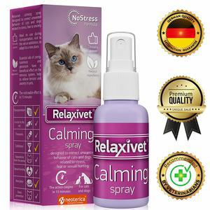 Relaxivet Natural Calming Spray Cats Dogs a Long-Lasting Calming Effect