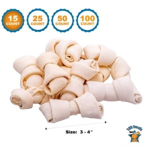 123 Treats Rawhide Bones Chews