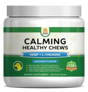 Calming Treats for Dogs - Hemp Oil Infused Soft Chews