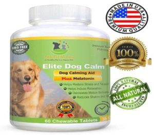 Elite Dog Calm, Advanced All Natural Calming Aid Relaxant for Dogs