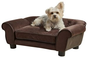 Enchanted Home Pet Brown Ultra Plush Cleo Pet Sofa