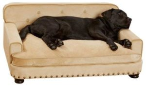 Enchanted Home Pet Caramel Ultra Plush Library Pet Sofa