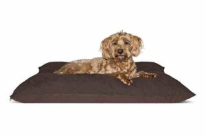 FurHaven Oxford & Suede Pillow Pet Bed