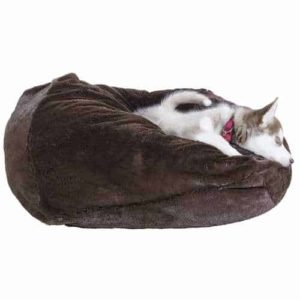 Furhaven Round Plush Ball Pet Bed