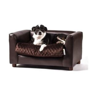 Keet Fluffly Deluxe Pet Bed, Sofa Charcoal, Small
