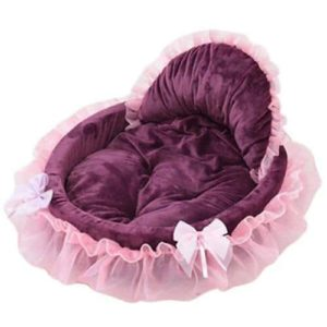 Saymequeen Coral Lace Princess Puppy Sofa Bed
