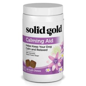Solid Gold Calming Aid Chews for Dogs with Natural Supplement with Chamomile