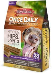 The Missing Link Once Daily All Natural Omega Dental Chew