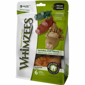 Whimzees Natural Grain Free Alligator Dental Dog Treats