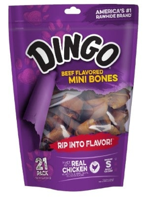 Dingo Beef Flavored Rawhide Bones For Dogs