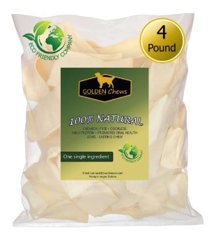 Golden Chews Natural Rawhide Chips