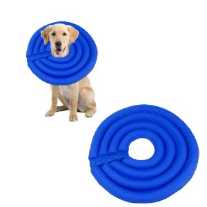 AUOKER Protective Inflatable Collar Recovery Dog Cone Collar