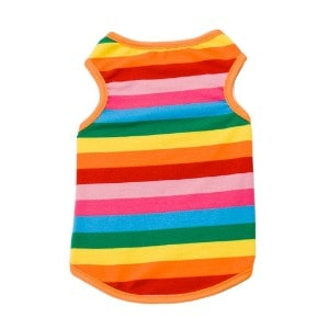 BUYITNOW Rainbow Stripe Dog Shirt