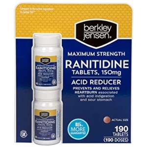 Berkley Jensen 150mg Ranitidine Tablets
