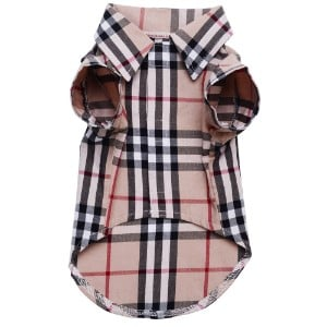 CHOLEGIFT Plaid Small Dog Shirt