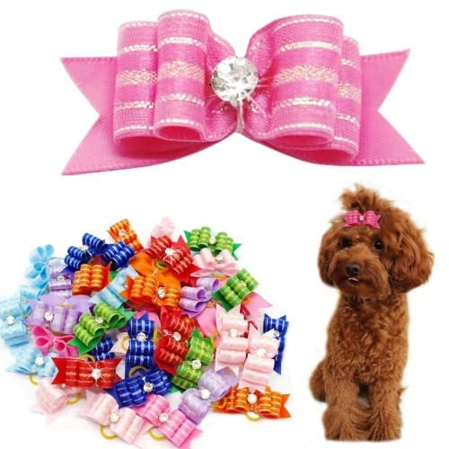 Didog Colorful Multi-Pattern Pet Cat Dog Hair Bows