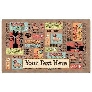 Drymate Custom Personalized Cat Food Mat