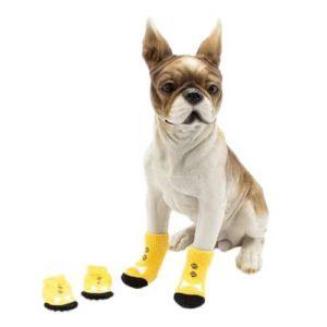 ELINKMALL 4pcs Pet Small Dog Anti-slip Warm Socks Cotton Knit Socks Soft Shoes