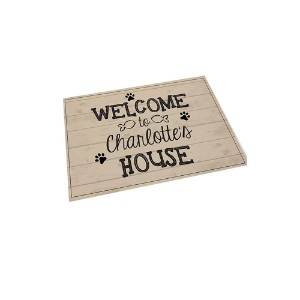 GiftsForYouNow Welcome Personalized Cat Feeding Mat