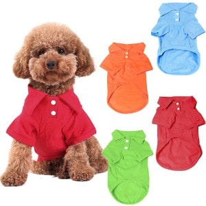 KINGMAS 4 Pack Dog Shirts