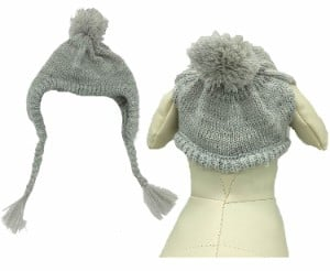 Lanyar Grey Knit Dog Hat
