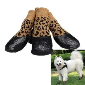Lsgoodcare Set of 4 Waterproof Nonslip Anti-Stain Pet Dog Outdoor Sports Socks