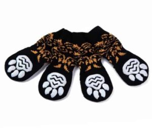 Luckymore 4 Pcs Anti-Slip Pet Dog Cat Socks/Paw Protector