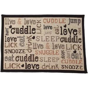 PetRageous Cuddles Tapestry Mat Feeder