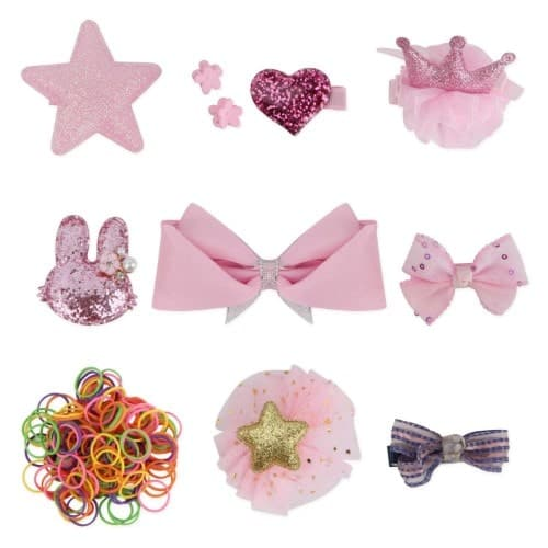 QUMY Dog Hair Clips Mixed Styles Varies Patterns Bows