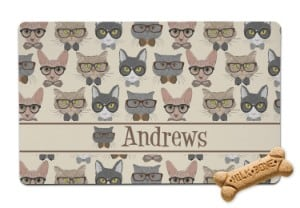 RNK Shops Hipster Cat Food Mat