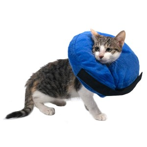 Warmpet Protective Inflatable Dog Cat Collar-Soft Recovery Cone