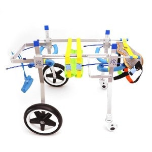 YOUNGFLY 4 Wheel Dog Wheelchair