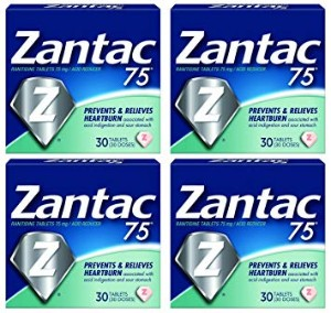 Zantac 75 mg Ranitidine 4 Pack