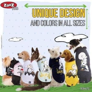 Zoozpets Peanuts Snoopy Dog Shirt